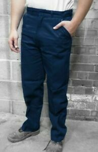 HEAVYWEIGHT COTTON  TROUSERS - NAVY BLUE  - Quality British Workwear - TR15