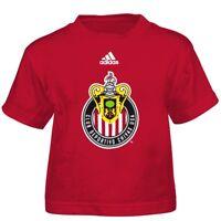 "CD Chivas Adidas MLS Toddler Red ""Team Logo"" Graphic T-Shirt"