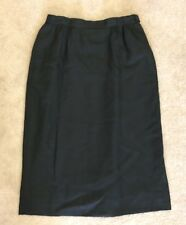 Country Sophisticates Petite by Pendleton black linen/rayon pencil skirt size 4