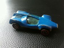 Hot Wheels Redline Double Vision Blue w/White Interior Moving Windshield 1969