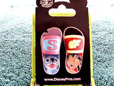 Disney * LILO & STITCH - FLIP FLOPS - SANDALS * New on Card - 2 Pin Set