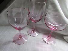 LOT OF23 VINTAGE FOSTORIA SIGNED CRYSTAL ELEGENT SILLHOUETTE PINK GLASSES EUC