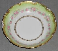 Antique 1896-1900 Bawo & Dotter LIMOGES SERVING BOWL Rose Motif MADE IN FRANCE