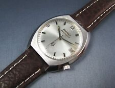 Vintage Bulova Accutron 218 Stainless Steel Tuning Fork Mens Watch Day Date 1975