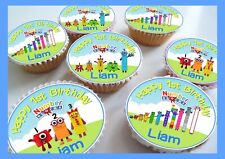 Number Blocks/Thank you Edible Personalised Cupcake Toppers
