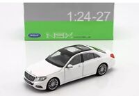 Welly 1:24 White Mercedes Benz S-Class S500 Diecast Model Car 24051WHT