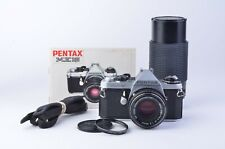 EXC++ PENTAX ME SUPER 35mm BODY w/50mm F2, 80-200mm ZOOM, MANUAL, TESTED, CLEAN