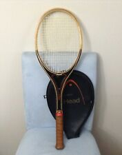 "Vintage Head Vilas Wooden Tennis Racket Inscribed ""JIM CHRISTY"" HS COACH in NY"