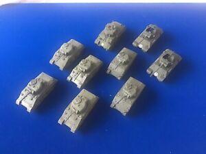 1/72 Painted US Tanks x9 Sherman, M10