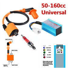 One Set Motorcycle Bikes CDI Box 5 Pin + Ignition Coil +Spark Plug For 50-125cc