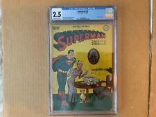 CGC 2.5 SUPERMAN #43 1946 Jerry SIegel & Joe Shuster Wayne Boring Cover