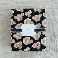 New pottery barn teen Emily Meritt The Marigold Rose Full Sheet set Black Blush