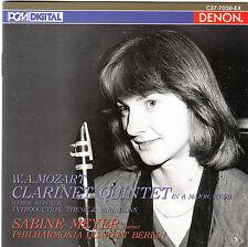 Mozart Clarinet Quintet KV581 Sabine Meyer CD Album Klassik Denon Japan