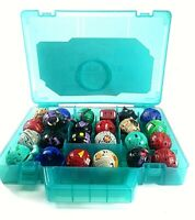 24 Bakugan Battle Brawlers And Blue Carrying Case Toy Lot