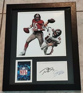 TOM BRADY & JOE MONTANA AUTHENTIC Signed Autographed NFL FRAMED 11X14 PHOTO AAA