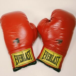 Everlast Vintage Yellow Tag Boxing Gloves 14 Oz made in USA