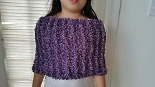 hand-knitted cowl infinity scarf with Bernat  yarn (mauve shades)