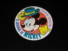 LE JOURNAL DE MICKEY - AUTOCOLLANT DES ANNEES 1980