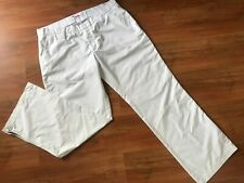Mens White J. LINDEBERG FUTURE GOLF TROUSERS (XL/38w) *NICE COND*