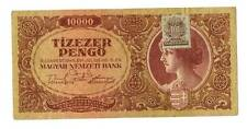 1945 Hungary Soviet Occupation 10000 Pengo Banknote