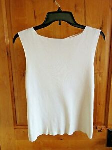 Womens cream ivory ribbed vest top in size 12 14 16 18 new