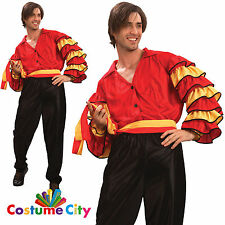 Adults Mens Spanish Rumba Flamenco Senor Dancer Fancy Dress Party Costume