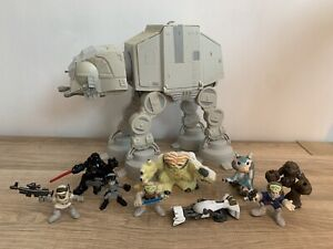 Star Wars Galactic Heroes AT-AT Walker Lights & Sounds + X8 Hoth Battle Figures