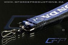 BLACK Premium Honda Wrist/Palm Lanyard JDM Civic S2000 Prelude Integra CRX RSX