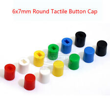 Round Tactile Button Cap For 6x7mm Tactile Switches Push Button Switch Cap Cover