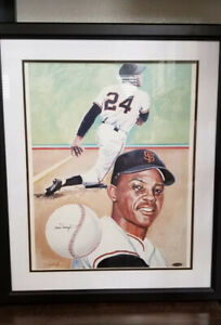 Willie MAYS Autographed signed FRAME BASEBALL PHOTO Picture Tristar COA Limited