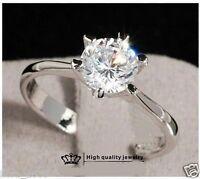 Bague, anneau, solitaire en plaqué or blanc, gris et pierre semi précieuse, neuf
