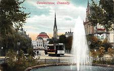 Carolastraße, Chemnitz, Straßenbahn, Postkarte 1900