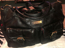 Lily Jade Elizabeth Black Leather Backpack Shoulder Diaper Bag