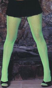 Fishnet Pantyhose Nylons Hosiery Stockings Neon Retro Costume Regular Plus 1733