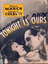 Tonight Is Ours Original Movie Herald 1933