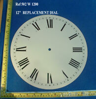 12 1/4 in clock bezel, brass for american WITH GLASS and 12 inch dial to suit
