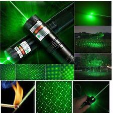 Laser Pointer Pen Adjustable Focus 532nm Burning + 2 safety keys Green