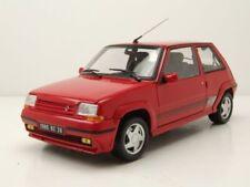 Renault Supercinq GT Turbo R5 1989 coche a escala rojo 1 18 Norev