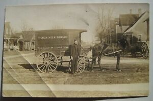 Kuss Baking Co.; Milk Delivery Wagon Old 1904-18 RPPC Postcard; Mishawaka IN ?