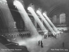 NEW YORK CITY, 1934 GRAND CENTRAL STATION - ART PRINT 24x32 B/W Photo Poster