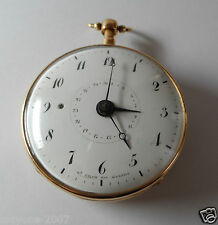 "ANTIQUE 1750 YEAR REPEATER & DATE ""D' DROZ DIT BUSSET"" POCKET WATCH 18K GOLD"