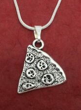 Pizza slice Necklace charm pendant and 18inch chain share best friends BFF