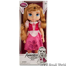 "Disney Store Animators Collection Princess Aurora Toddler Doll 16"" NIB"