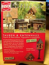 HO 1:87 scale Busch TWO ( Authentic Wood) Bird Houses ( Pigeon & Duck ) KIT 1521
