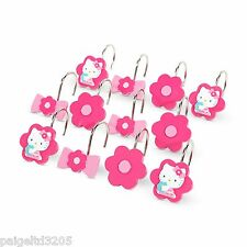 Sanrio Hello Kitty Fabric Shower Curtain Hooks Set of 12  HV010K