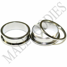 """1456 Screw-on / fit Surgical Steel 2"""" Two Inch 50mm Plugs Flesh Tunnels Earlets"""