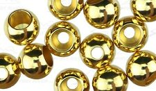 """50) 5/64"""" GOLD 2.0mm BRASS fly tying beads (extra small)"""