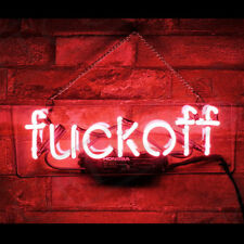 Fuck-off Neon Sign Light Store Display Beer Bar Sign 12''x8'' RED