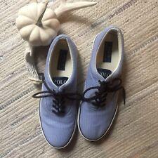 Polo Ralph Lauren 9M Men's Sport Boat Deck Shoes White Navy blue Tennis Preppy