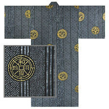 "Japanese Robe Yukata Kimono Men's Ancient Coins 58"""
